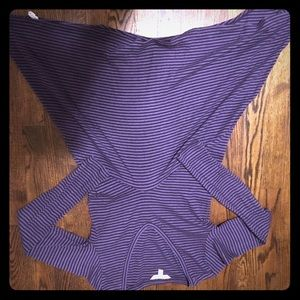 CAbi Purple Striped Asymmetrical Tunic